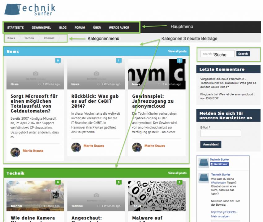 Design_komplett design Jetzt neu: TechnikSurfer in neuem Look Design komplett 850x720