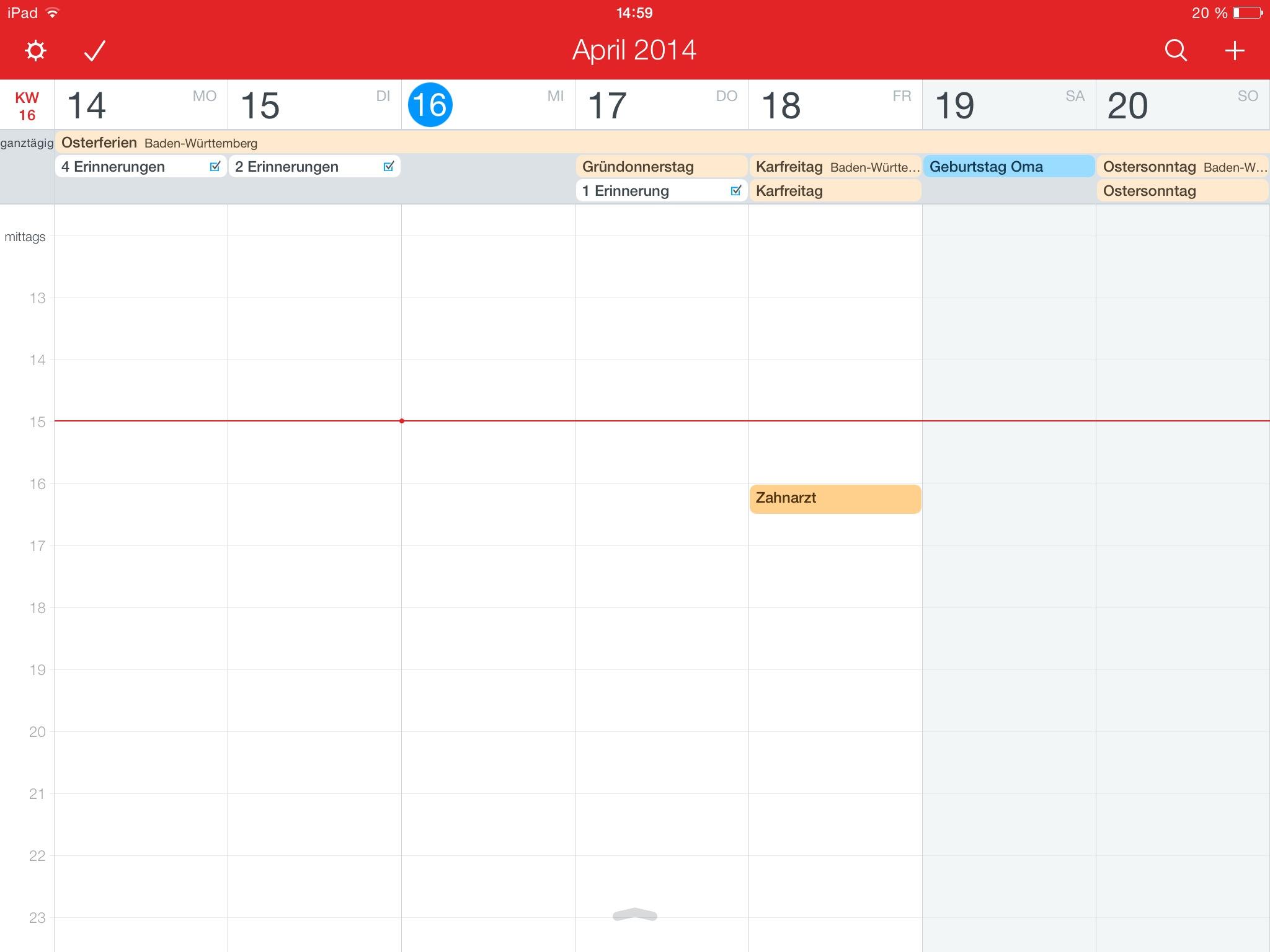 Fantastical 2 für iPad von Flexibits fantastical 2 Getestet: Fantastical 2 von Flexibits für das iPad IMG 0063