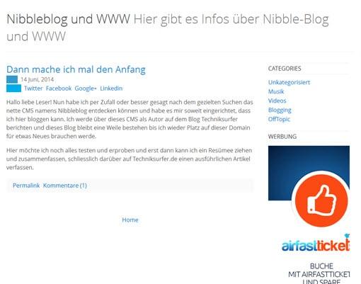 Nibbleblog Frontend nibbleblog Vorstellung des CMS Nibbleblog nibbleblog cms frontend