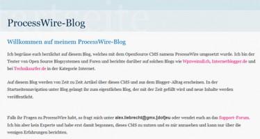 Vorstellung des CMS namens ProcessWire