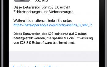 iOS 8 beta 3 für Entwickler verfügbar