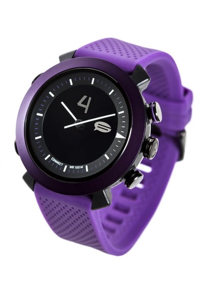 Cogito watch Nachrichten verpasst Cogito Smartwatch: Cogito classic unter der Lupe Cogito watch angle 1 final Purple 20140106