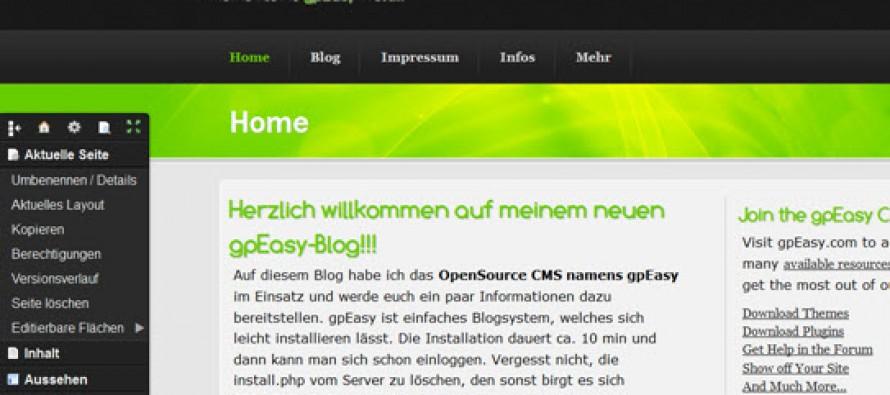 Vorstellung des OpenSource CMS gpEasy