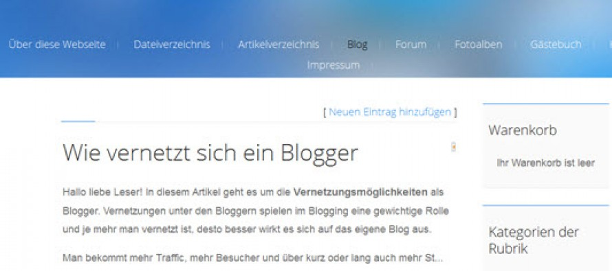 Homepage-Baukasten von uCoz
