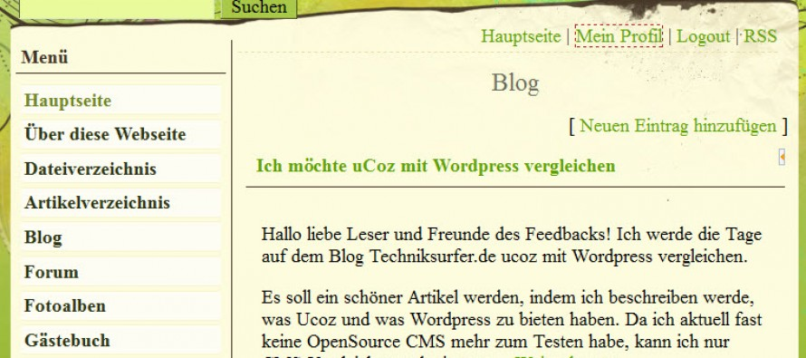 WordPress vs. Ucoz