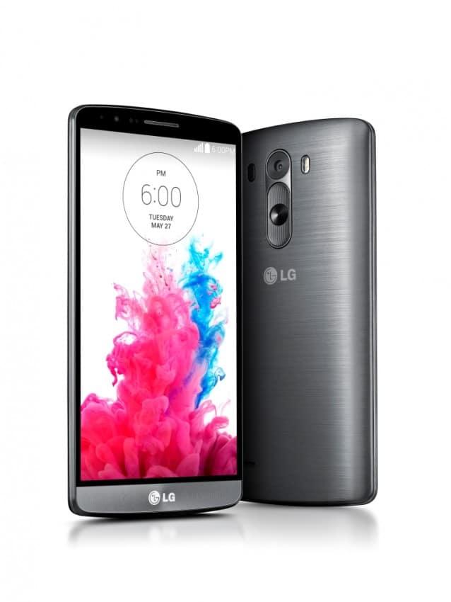 LG G3 Rückseite mit Knöpfen lg g3 Das LG G3 im Test Bild LG G3 Metallic Black Range 638x850