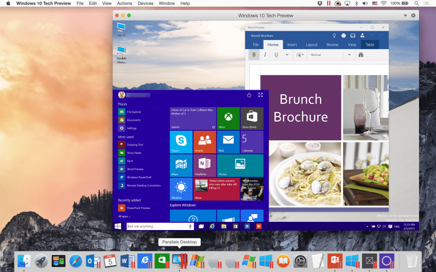 Parallels Desktop 10 unterstützt nun Windows 10 Technical Preview Parallels Desktop 10 Parallels Desktop unterstützt nun Windows 10 Technical Preview Windows 10 Tech Preview in Parallels Desktop 10 on Mac OS X Yosemite 850x531