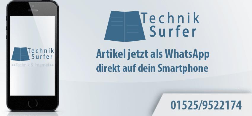 TechnikSurfer Artikel jetzt als WhatsApp Nachricht techniksurfer TechnikSurfer Artikel jetzt als WhatsApp techniksurfer whatsapp 850x391