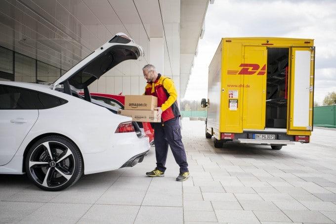 Amazon will künftig die Zustellung an PKWs ermöglichen amazon Amazon will Bestellungen im Kofferraum zustellen Amazon Prime Lieferadresse Mein Kofferraum 02 680x453