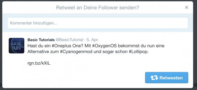 Neue Retweet Funktion - Kommentar einfügen Twitter Twitter erhält neue Retweet-Funktion Retweet01 680x313