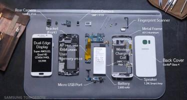 Samsung präsentiert das Galaxy S6 Edge in seinen Einzelteilen