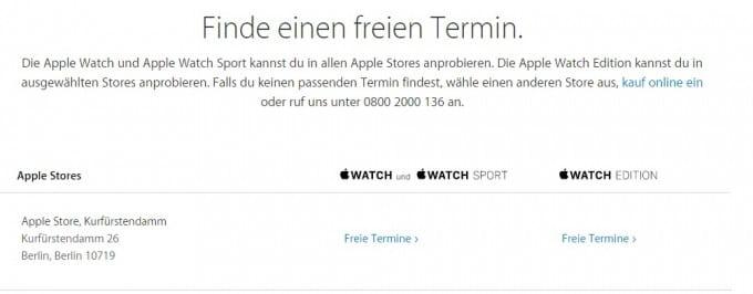 Apple Watch Termin für die Anprobe Apple Watch Apple Watch anprobieren? Kein Problem! termin2 680x266