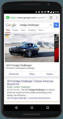 Googles neues Werbemittel: Automobile Ad Google Google: die meisten Suchanfragen erfolgen von Mobilgeräten E02092949 Dodge Challenger Screenshot 2000x1122 2015Apr v01
