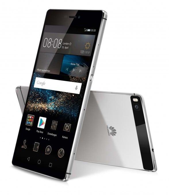 Huawei P8: Verkauf startet Huawei P8 Verkauf von Huawei P8 und Huawei P8 lite startet HUA P8 black group 01 588x680