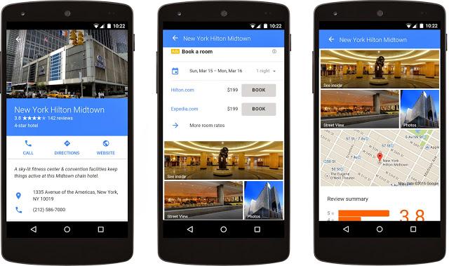Google neue Werbemittel: Hotel Ad Google Google: die meisten Suchanfragen erfolgen von Mobilgeräten Hilton detail view mobile 1