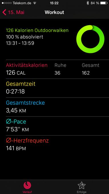 Apple Watch Workout Zusammenfassung auf dem iPhone apple watch Ist die Apple Watch schon ausgereift? – die Smartwatch im Alltagstest IMG 6834 382x680