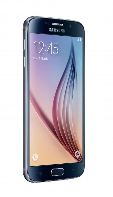 Das Samsung Galaxy S6 im Test  Samsung Galaxy S6 Samsung Galaxy S6 im Test SM G920F 005 L Front30 Black Sapphire 392x680