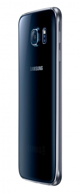 Samsung Galaxy S6 Rückseite Samsung Galaxy S6 Samsung Galaxy S6 im Test SM G920F 012 R Back45 Black Sapphire 279x680