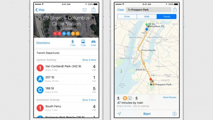 iOS 9 mit Transit in Apple Maps ios 9 iOS 9 bekommt Proactive und wird intelligenter 7e37acb3bee1994e89805df3294800b65bdc65f6 expanded large 2x 680x383