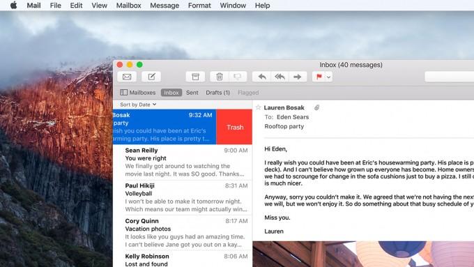 OS X El Capitan mit neuen Wischgesten für Mails os x el capitan OS X El Capitan bekommt Window Management und erinnert an Windows e7b1ae6a1b156409902f9e7ac78314274dd306ef expanded large 2x 680x383