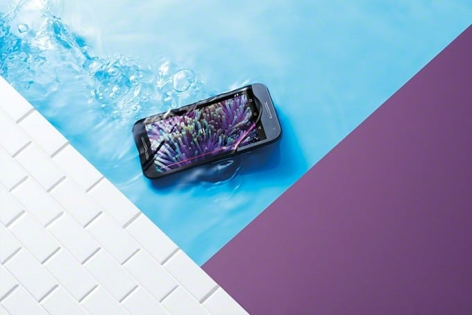Motorola Moto G (2015) soll wasserdicht sein Moto G Motorola Moto G (2015) enthüllt Moto G Black Front Underwater 680x454