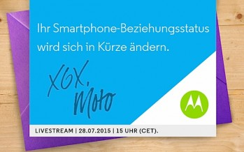 Motorola lädt zu Launch-Event Ende Juli ein