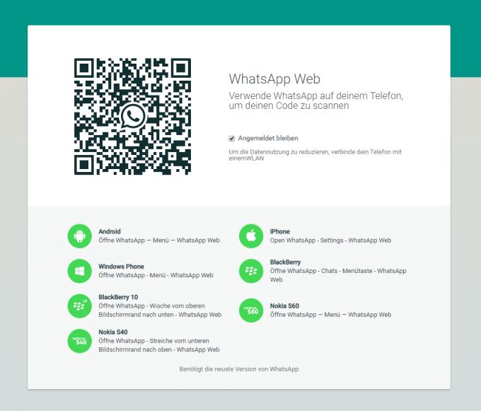 WhatsApp Web  WhatsApp Web auch für iOS-Nutzer verfügbar WhatsApp Web1 680x581