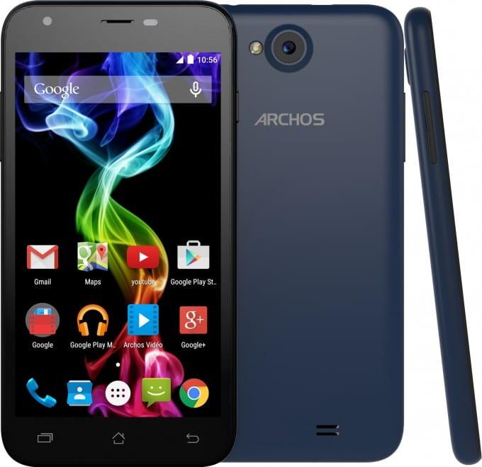Das Archos 50C Platinum archos Archos startet mit neuen Smartphones in die Weihnachtszeit 50CPL BLUE front back side lollipop 680x660