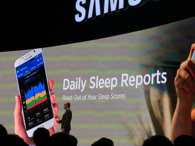 Samsung SleepTracker mit Analyse Samsung Samsung startet mit Internet der Dinge durch – von Sensoren bis zu BluRay Playern IMG 9397 e1441282435145 680x510