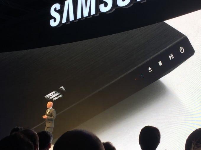 Samsung stellt 4k BluRay vor Samsung Samsung startet mit Internet der Dinge durch – von Sensoren bis zu BluRay Playern IMG 9409 e1441282357990 680x510