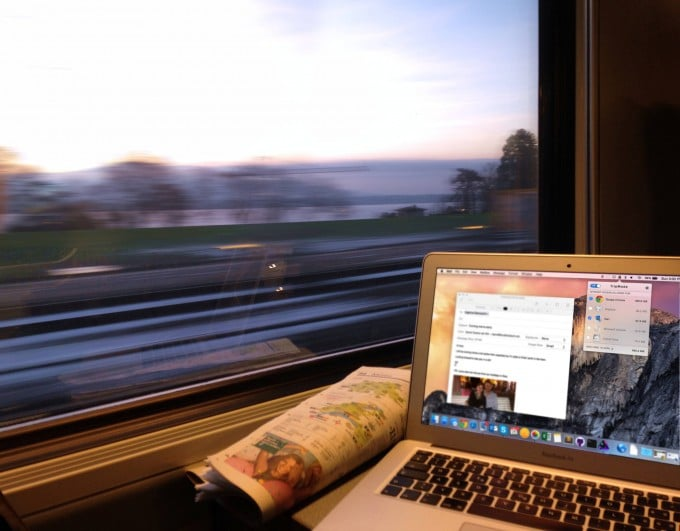 Datenvolumen sparen mithilfe von Tripmode tripmode Tripmode für den Mac: weniger Datenverbrauch über einen Hotspot Lifestyle TripMode in the train 680x531