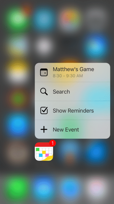 Fantastical 2 ermöglicht 3D Touch fantastical 2 Fantastical 2.5 ist da: 3D Touch, Slide Over, SplitView und mehr iOS 9 Features 3D Touch 382x680