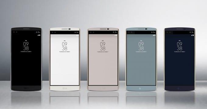 Das LG V10 in den verschiedenen Farben LG V10 LG startet mit High-End Smartphone LG V10 durch Bild LG V10 1 680x359