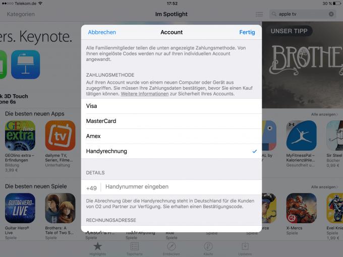 Im AppStore von Apple nun mit Handyrechnung bezahlen appstore In Apples AppStore kann nun mit Handyrechnung bezahlt werden IMG 0406 680x510