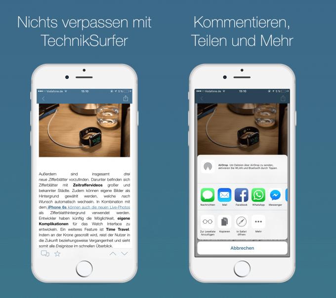 TechnikSurfer App 3.0: nichts mehr verpassen techniksurfer In eigener Sache: TechnikSurfer App geht in neue Runde TechnikSurfer App 3 0  iOS B2 680x604