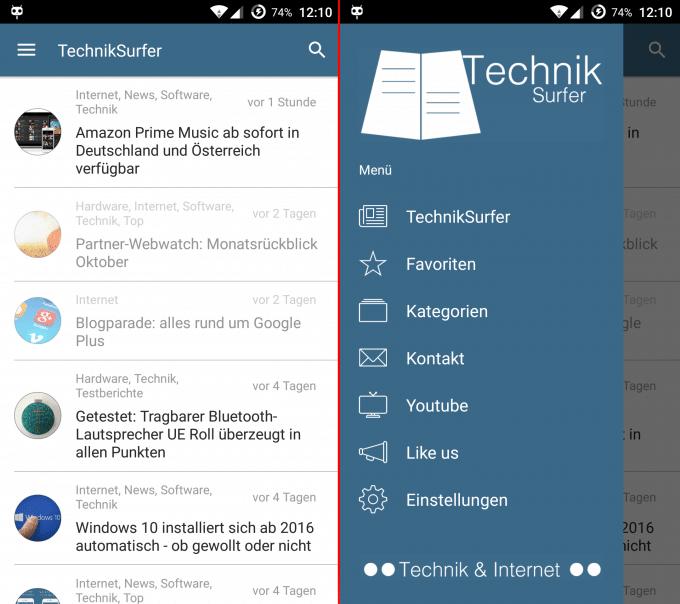 Jetzt auch für Android: die TechnikSurfer App 3.0 ist da TechnikSurfer In eigener Sache: TechnikSurfer 3.0 jetzt auch für Android verfügbar Android 3 0 1 680x604