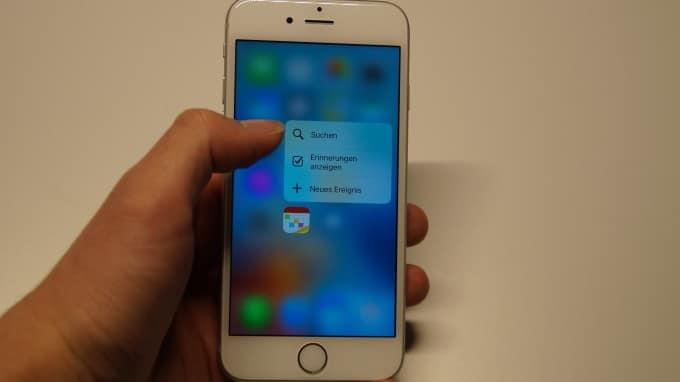 Das iPhone 6s bietet mit 3D Touch Quick Actions iphone 6s iPhone 6s unter der Lupe – nicht alles klingt nach Apples Philosophie DSC05210 680x382