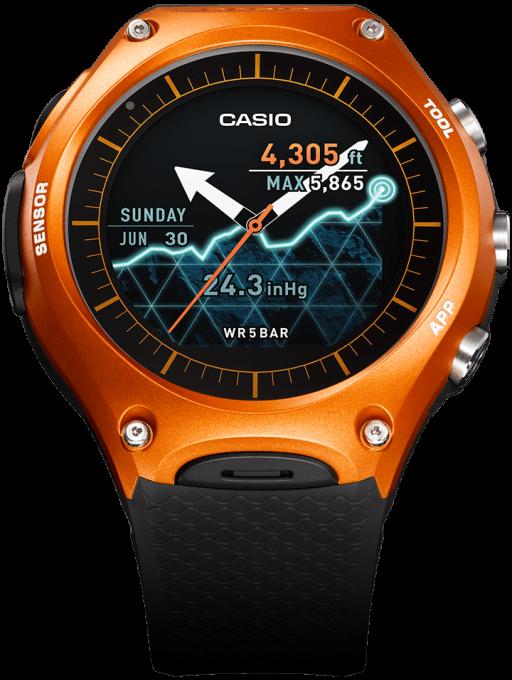 Casio WSD F10 Casio CES 2016: Casio stellt erste Smartwatch vor Casio WSD F10 512x680