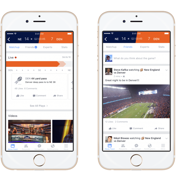 Facebooks neues Sports Stadium Facebook Facebook wird mit Sports Stadium zum Second Screen für Sportevents Facebooks neues Sports Stadium 609x630