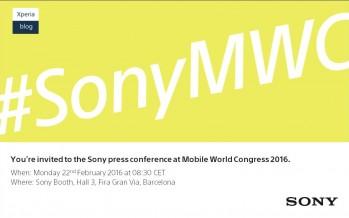 MWC 2016: Sony verschickt Einladungen zu Produktlunch