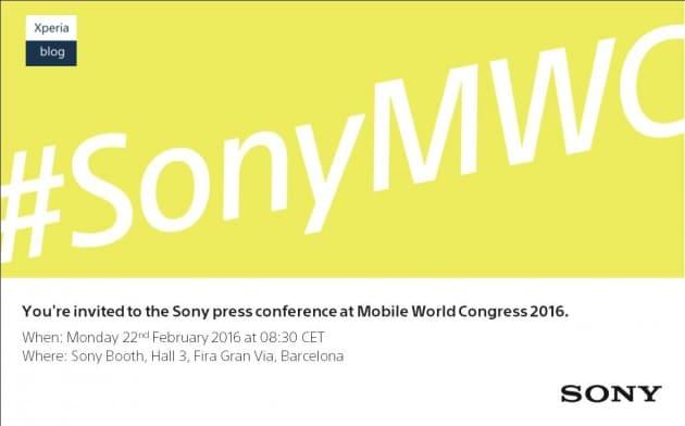 Sony PK auf MWC 2016 Sony MWC 2016: Sony verschickt Einladungen zu Produktlunch Sony PK auf MWC 2016 630x392