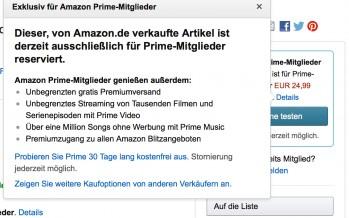Amazon schränkt Nicht-Prime Kunden ein