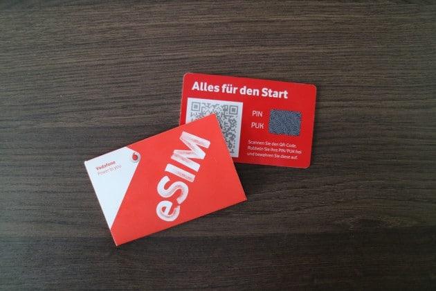 Vodafone führt eSIM ein eSIM Vodafone und O2 führen eSIM ein Vodafone fuehrt eSIM ein 630x420
