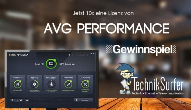AVG Performance Gewinnspiel gewinnspiel Gewinnspiel: mehr Leistung für deine Technik mit AVG Performance Banner AVG16 630x362