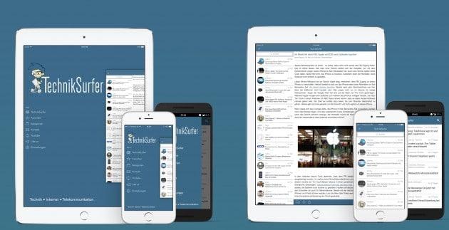 TechnikSurfer App 3.1 techniksurfer TechnikSurfer in neuem Branding und App-Updates sind da Promo v3 1 630x323