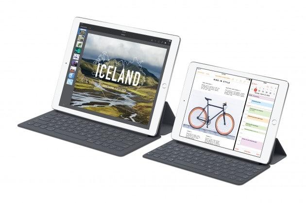 Die iPad Pro Familie wächst ipad pro Apple zeigt kleines iPad Pro iPadPro SmartKeyboard iWork Splitview PR PRINT 630x417