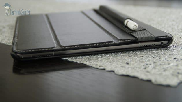 Pencil Halter der StilGut Couverture stilgut couverture Test: StilGut Couverture iPad Pro 9.7 Zoll – eine gute Alternative Pencil Halter der StilGut Couverture 630x354