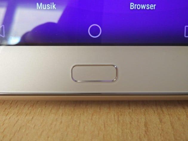 Der Fingerabdrucksensor des Huawei MediaPad M2 darf nicht fehlen huawei mediapad m2 Test: Huawei MediaPad M2 10.0 – das überdurchschnittliche Tablet sensor 630x473