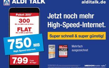 Aldi-Talk mit mehr Datenvolumen für alle