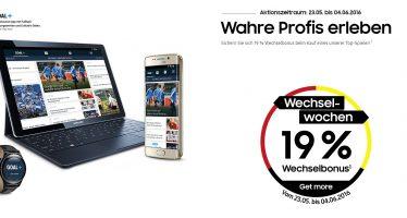 Samsung Wechselwochen: 19 Prozent Rabatt auf viele Samsung Galaxy Produkte
